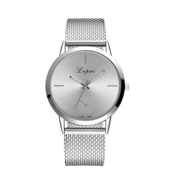 New Fashion Women's Watches Casual Quartz Stainless Steel Band Wrist Watch