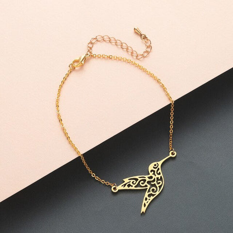 Cute Origami Hummingbird  Peace Bird Bracelet and Bangle