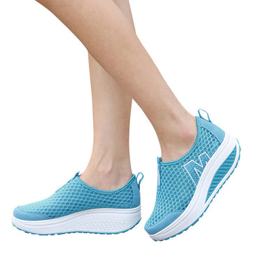 Mesh Flat Shoes Sneakers Platform Flat Shoes