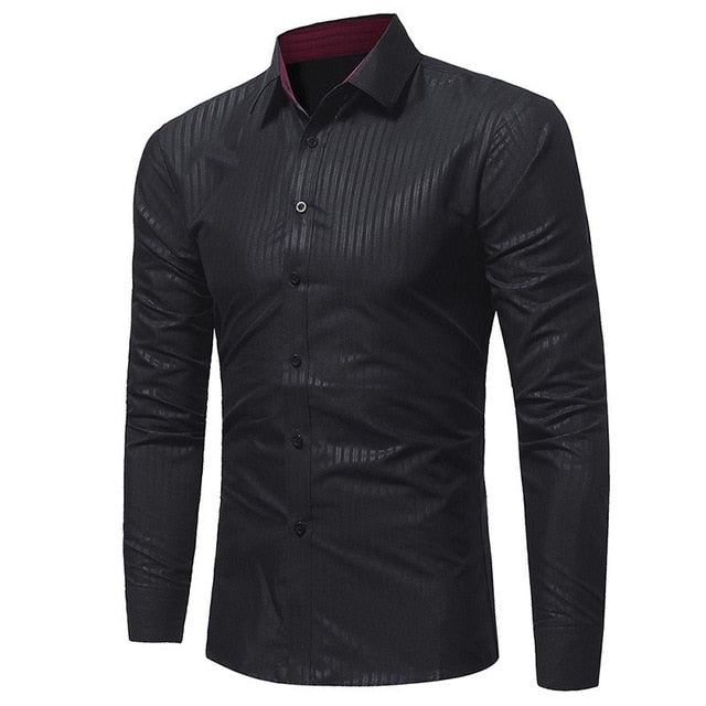 New Men's Silk Satin Shirts