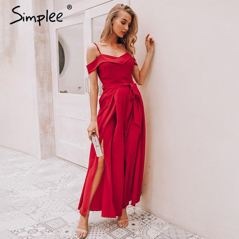 Sexy off shoulder elegant high waist dress