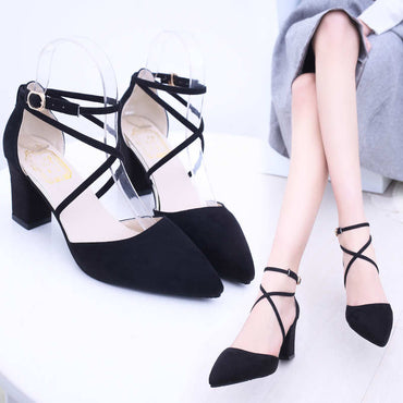 Pumps Buckle Strap Sexy Thin High Heels