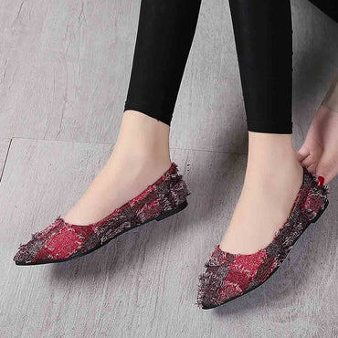 Fashion comfortable  Shallow Mouth Slip-On shoes flat  Shoes