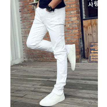 Casual Thin Youth business white Stretch trousers teenagers jeans Skinny pencil pants