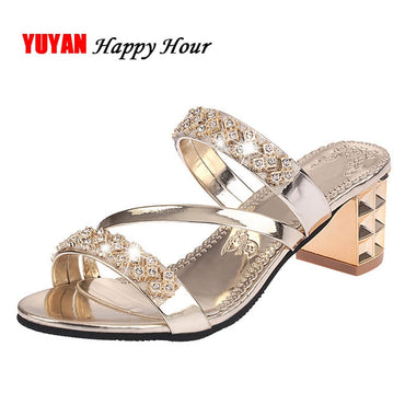 Square Heel Sandals Peep toe Ladies Shoes Brand High Heel Sandals