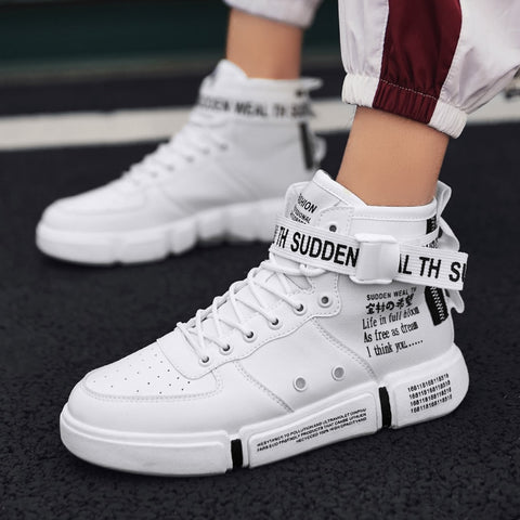 Leader Show Men's Fashion Casual Shoes High Top Sneaker Shoes High Quality Non-slip Walking Shoes