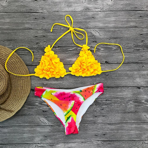 Sexy Brazilian Halter Push Up Bikini Set