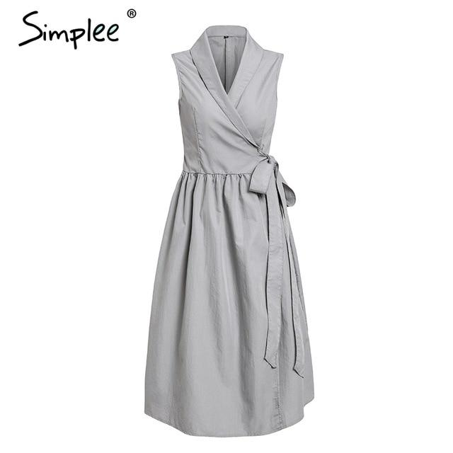 Simplee Vintage sleeveless women dress