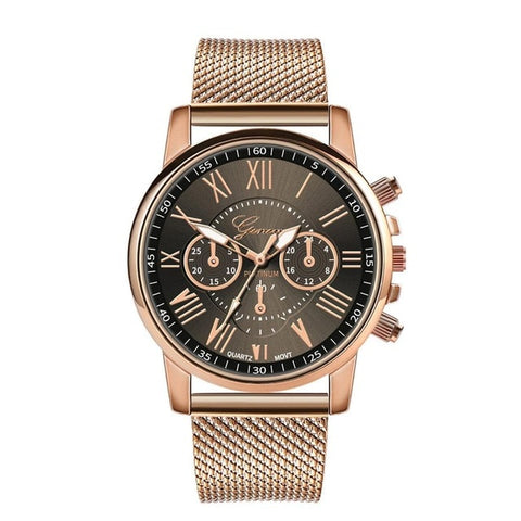 Luxury Quartz Watches  Military Stainless Steel Dial Alloy Band Wrist Watches