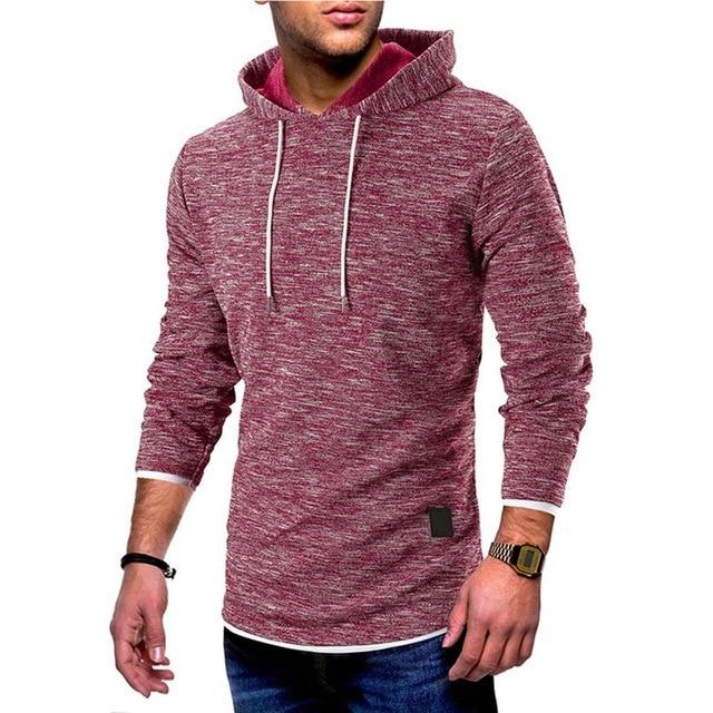 Slim Hoodies Men Sweatshirt Thick Clothes