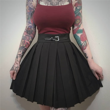 Gothic High Waist Pleated Skirts