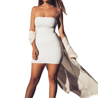 Sexy Solid Sleeveless Spaghetti Strap Bandage Dress