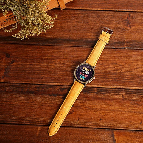New Simple Wrist Watch Women Ladies Quartz Wristwatches