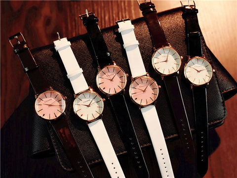 Luxury Women Watches Pink Big Dial Polygonal Glass Design Fashion  Quartz Watch