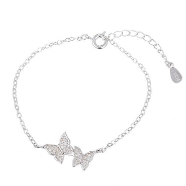 Bracelet Elegant Simple Crystal Butterfly Bracelet