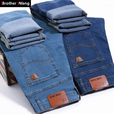 Thin Stretch Business Casual Trousers Fashion Denim Jeans