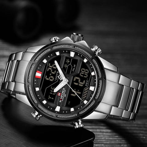 Top Luxury Brand  Sports Watches Men's Quartz LED Digital Military Wrist Watch
