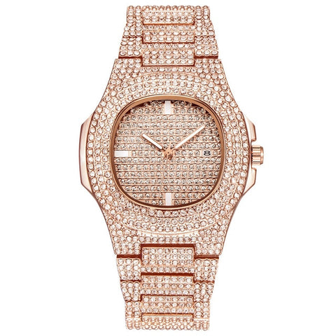 Fashion Brand Luxury Women  Stainless Steel Band Watch