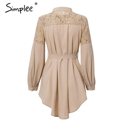 Elegant lace mesh embroidery A-line dress