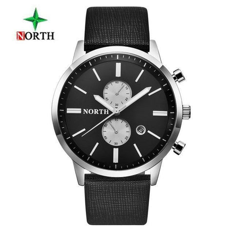 Top Luxury Brand Quartz Watch Casual Leather Sports Wristwatch