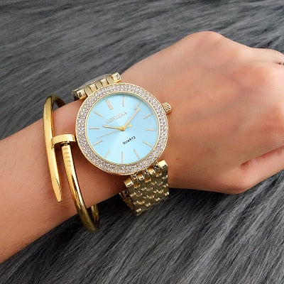 Fashion Silver Women Luxury Watch Women Watches Bracelet Women's Watches