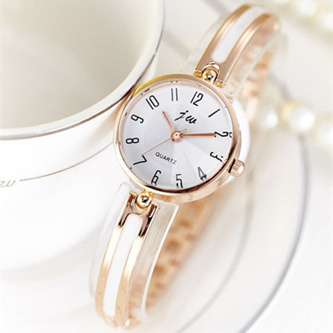 Luxury Brand Quartz Women Watches Diamond Bracelet Ladies Dress Gold Wristwatch
