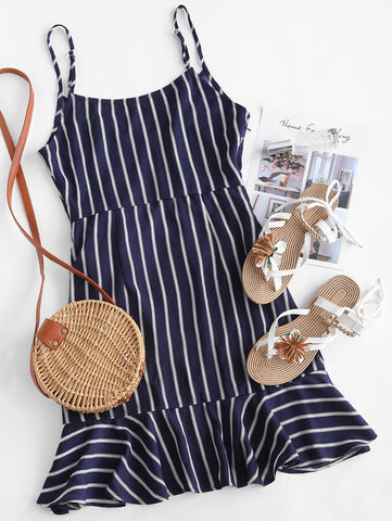 Summer Women  Striped Office Pencil Dress