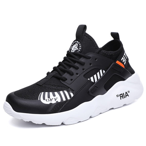 Breathable Running ShoesBlack White Sport Shoes Men Sneakers