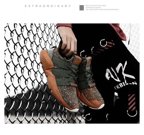 Fashion Light Camouflage Lace-up Shoes
