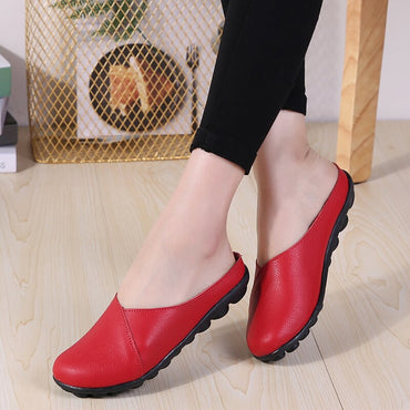 Genuine Leather Shoes Flat Shoes