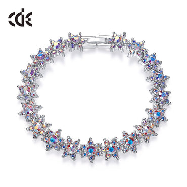 Shiny Star Bracelets Charm Crystal Aurore Boreale Cuff Bracelet and Bangle