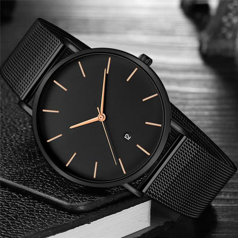 Famous Brand Classic Stainless Steel Wrist Watch