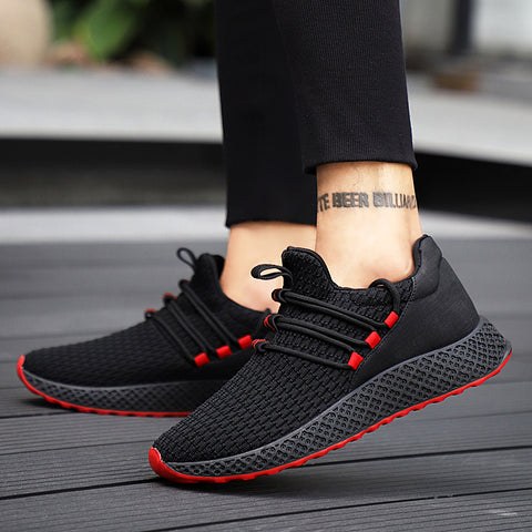 Mesh Breathable Men Shoes Sneakers Comfortable Casual Shoes  Fashion Lace Up Sneakers
