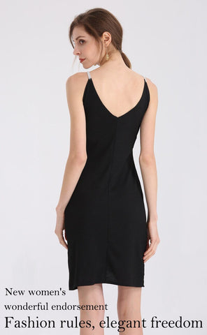 Sexy Deep V-Neck Suspender Knitting Dress