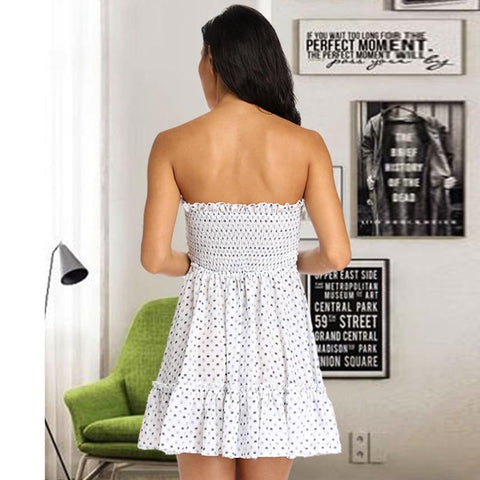 Hot Sale Sexy Strapless Chiffon Mini Dress