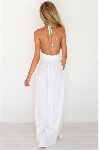 Sexy chiffon backless elegant sling dress
