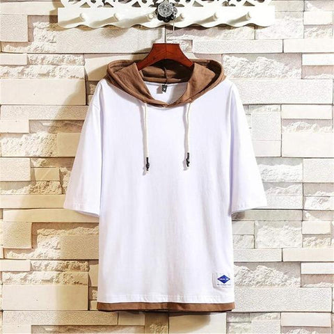 New Solid Color Large Size Hooded  Fashion Casual Self-cultivation Hoodies