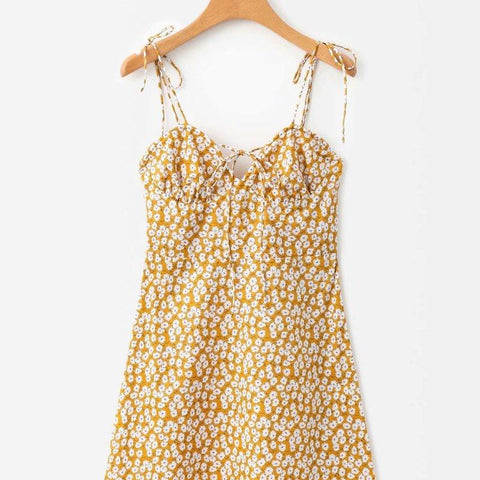 New Fashion Wind Printed Suspended Dress