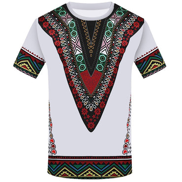 African Printed T Shirt Short Sleeve T Shirts
