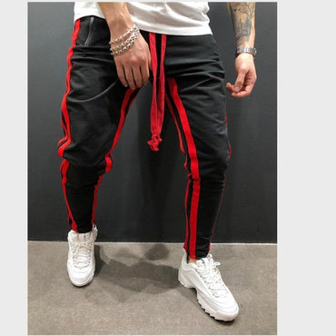 Side Stripe Hip Hop Track Pants