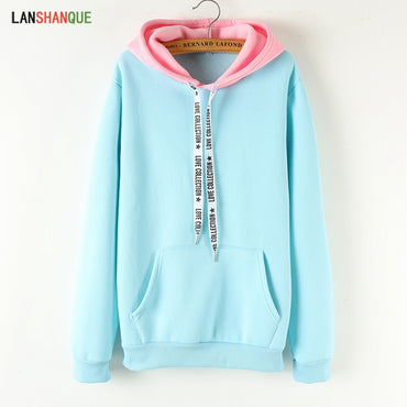 Solid Color Casual Top Hoodies