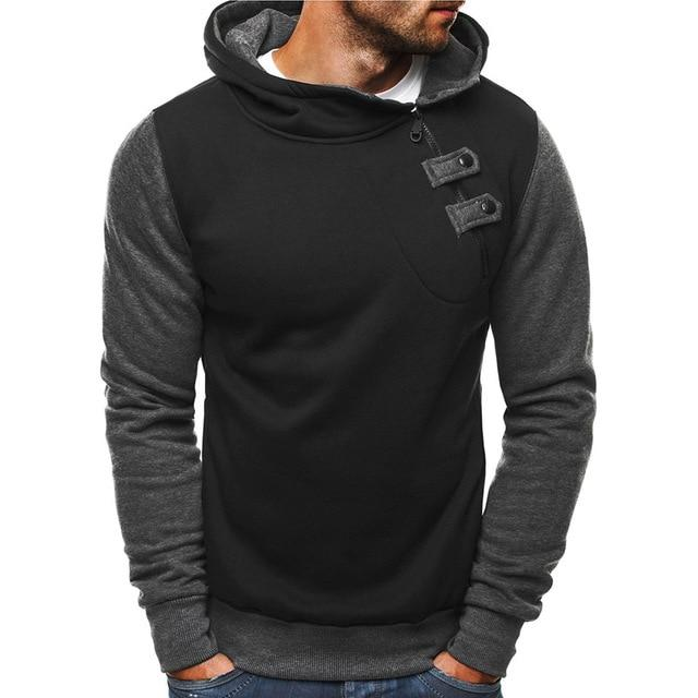 Casual Slim Fit Long Sleeve Men Hoodies