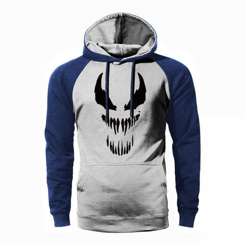 Super Hero Venom Raglan Men Hoodies