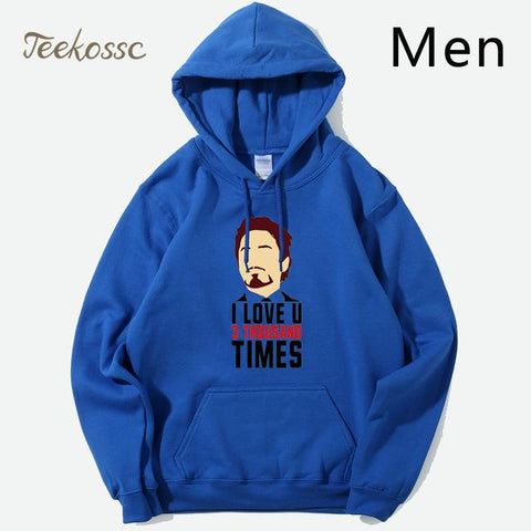 Tony Stark  I Love You 3000 Men Hoodie