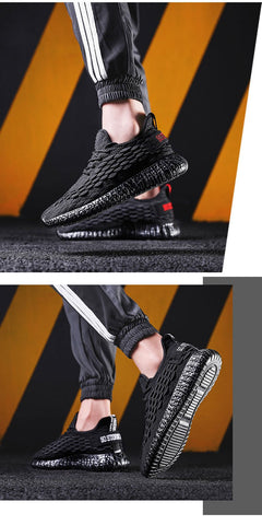 Lightweight Black Grey Athletic Shoes