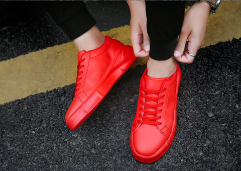 Net red  casual version of the tide shoes thick bottom  increased shoes