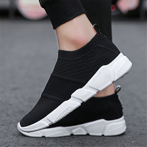 Brand Men Socks Sneakers Fashion Casual Shoes Breathable Mesh Comfortable Light Slip-on Flat Shoes