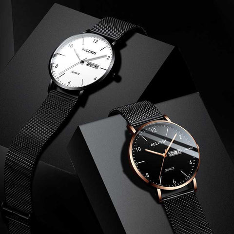 Fashion Ultra-thin Mens Watches Top Brand Luxury Quartz Watch