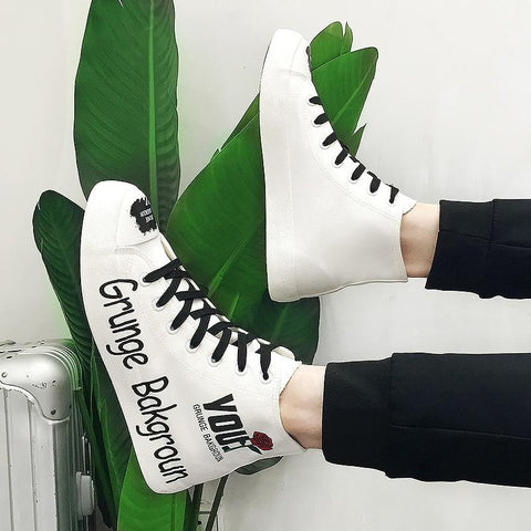 Fashion Lace-Up Hip Hop hot sneakers  High Tops