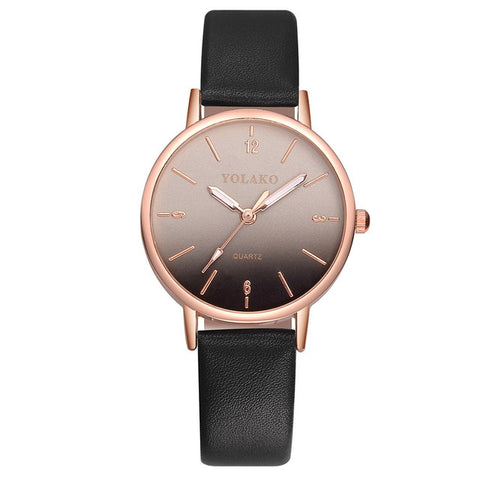Luxury Watches Women Famous Casual Quartz Leather Band New Strap Watch Analog Wrist Watch